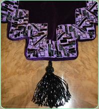 Purple  Art Deco runner tassel detail